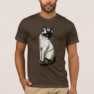 Adorable Siamese Cat Art for Cat-fanciers Apparel T-Shirt