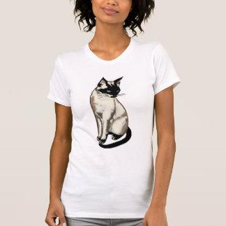 Adorable Siamese Cat Art for Cat-fanciers Shirt