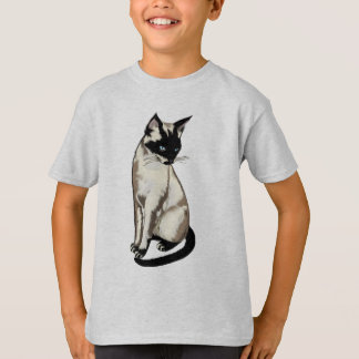 Adorable Siamese Cat Art for Kids T-Shirt