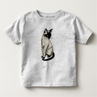 Adorable Siamese Cat Art for Kids Toddler T-shirt