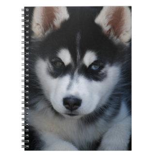 Adorable Siberian Husky Sled Dog Puppy Notebook