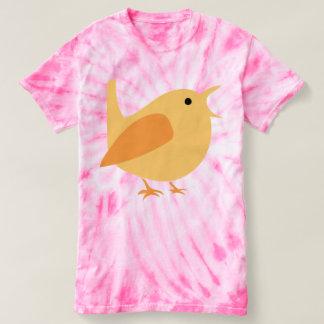 Adorable Singing Bird Tie-Dye T-Shirt