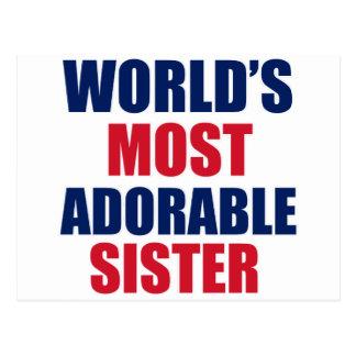 Adorable sister postcard