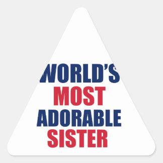 Adorable sister triangle sticker