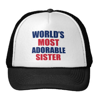 Adorable sister trucker hat
