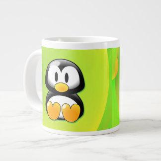 Adorable Sitting Cartoon Penguin Giant Coffee Mug