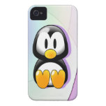 Adorable Sitting Cartoon Penguin iPhone 4 Case
