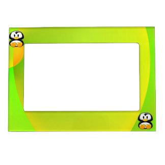 Adorable Sitting Cartoon Penguin Magnetic Photo Frame