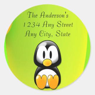 Adorable Sitting Cartoon Penguin Sticker