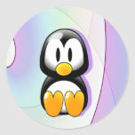 Adorable Sitting Cartoon Penguin Stickers