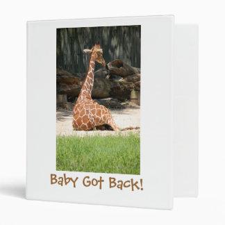 Adorable Sitting Giraffe Binder
