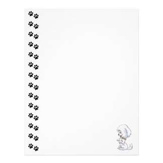 Adorable Sitting Up Puppy  Letterhead