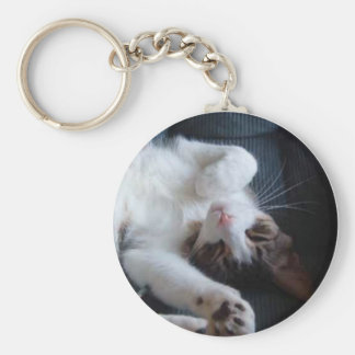 Adorable Sleeping Cat Keychain