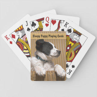 Adorable Sleeping Puppy Photograph Playing Cards