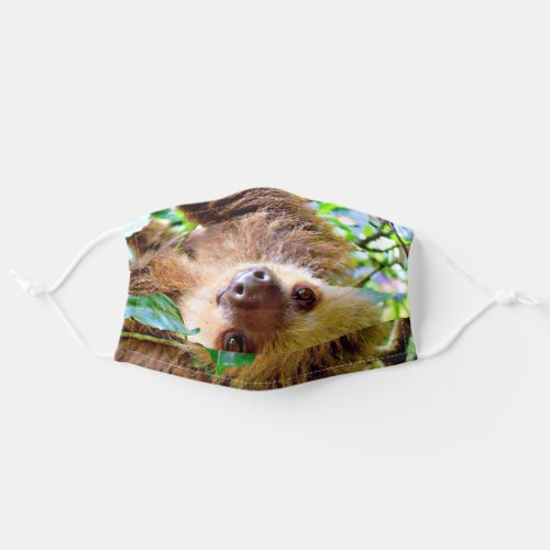 adorable sloth adult cloth face mask