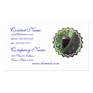 Adorable Sloth Double-Sided Standard Business Cards (Pack Of 100)