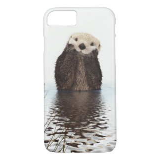 Adorable Smiling Otter in Lake iPhone 8/7 Case