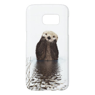 Adorable Smiling Otter in Lake Samsung Galaxy S7 Case