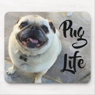 Adorable Smiling Pug Dog Pug Life Mouse Pad