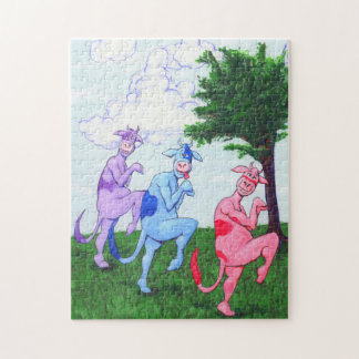 Adorable Sneaky Cows Jigsaw Puzzle