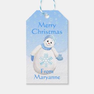 Adorable Snowman Custom Gift Tags