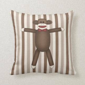 Adorable Sock Monkey Home Decor Items Throw Pillow