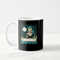 Adorable Space Cat Cute Space Exploring Astronaut Coffee Mug