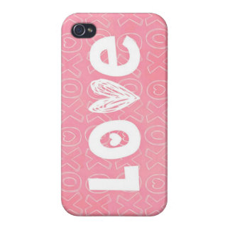 Adorable Splash of Pink Love iPhone 4/4S Cover