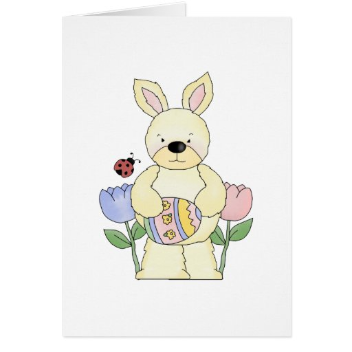 adorable spring easter bunny greeting card
