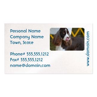 Adorable Springer Spanial Business Card