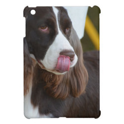 Case Savvy iPad Mini Glossy Finish Case with Springer Spaniel Phone Cases design