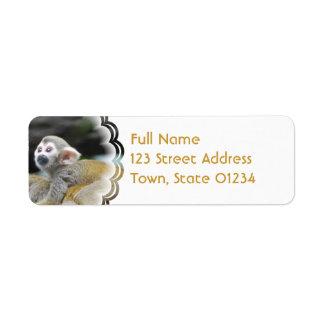 Adorable Squirrel Monkey  Address Labels