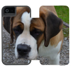 Incipio Watson™ iPhone 5/5s Wallet Case with Mastiff Phone Cases design