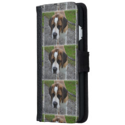 iPhone 6 Wallet Case with Saint Bernard Phone Cases design