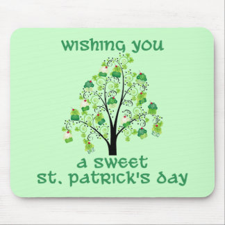 Adorable St. Patrick's Day Cupcake Tree Tees, Gift Mousepads