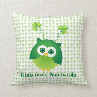 Adorable St. Patrick's Day Owl Tees, Gifts Pillow