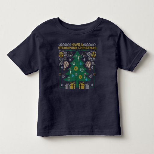Adorable Steampunk Ugly Christmas Sweater T-Shirt