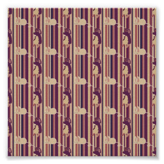 Adorable Striped Mouse Pattern Print