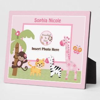 Adorable Sunny Safari Girl Animals Photo Plaque
