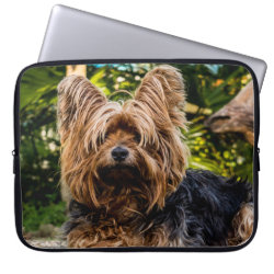 Neoprene Laptop Sleeve 15' with Yorkshire Terrier Phone Cases design