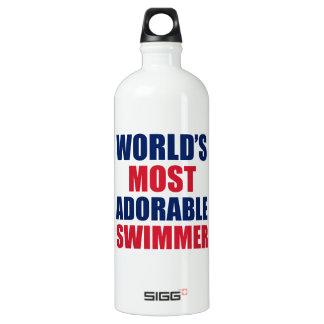 Adorable swimmer aluminum water bottle