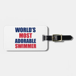 Adorable swimmer tags for bags