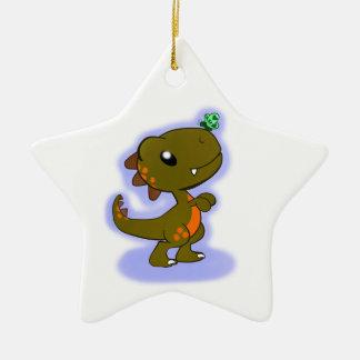 Adorable T-Rex Ceramic Ornament