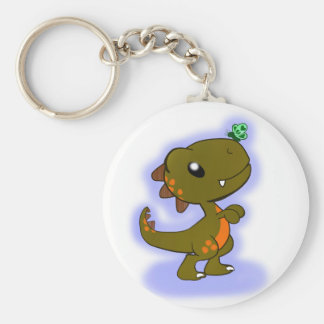 Adorable T-Rex Basic Round Button Keychain