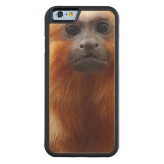 Adorable Tamarin Monkey Carved® Maple iPhone 6 Bumper Case