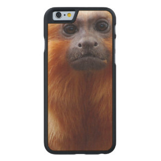 Adorable Tamarin Monkey Carved® Maple iPhone 6 Slim Case