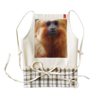Adorable Tamarin Monkey Zazzle HEART Apron