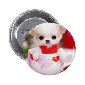 adorable teacup puppy button