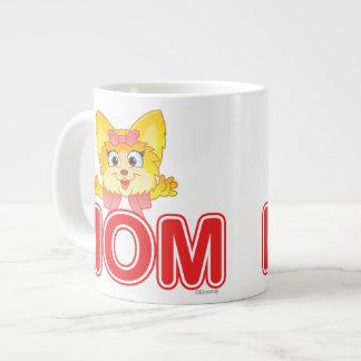Adorable Teakup Yorkie Cartoon for Mom Large Coffee Mug
