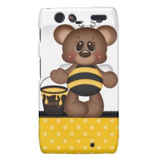 Adorable Teddy Bear Bumble Bee Motorola Droid RAZR Cases